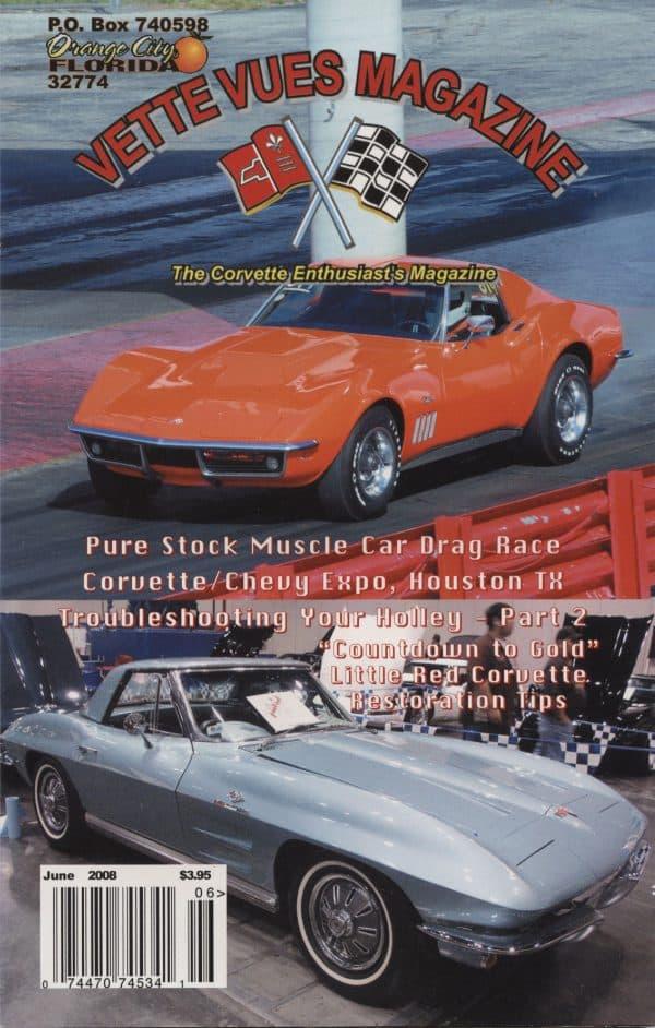 June 2008 Cover of Vette Vues Corvette Magazine
