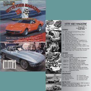 June 2008 Vintage Vette Vues Corvette Magazine Back Issue