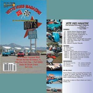June 20099 Vintage Vette Vues Corvette Magazine Back Issue
