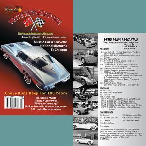 March 2011 Vette Vues Magazine Back Issue