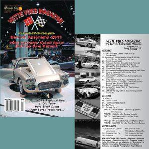 May 2011 Vintage Vette Vues Corvette Magazine Back Issue for Sale.