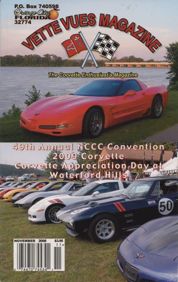 November 2008 Cover of Vette Vues Corvette Magazine