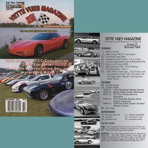 November 2008 Vintage Vette Vues Corvette Magazine Back Issue