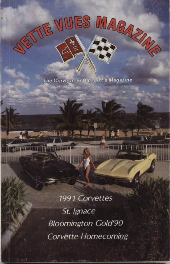 October 1990 Cover of Vette Vues Corvette Magazine