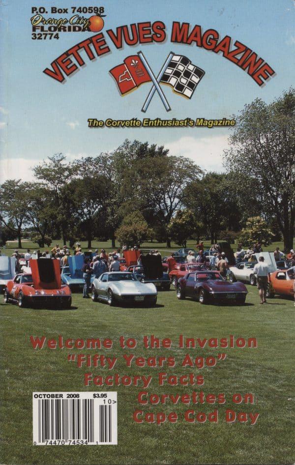 October 2008 Cover of Vette Vues Corvette Magazine