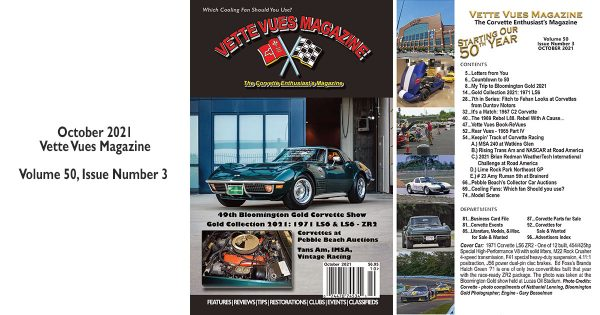 October 2021 Issue, Vette Vues Magazine, #599, Volume 50, Issue Number 3