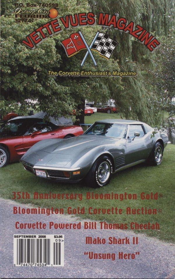 September 2008 Cover of Vette Vues Corvette Magazine