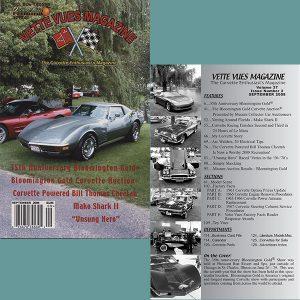 September 2008 Vintage Vette Vues Corvette Magazine Back Issue