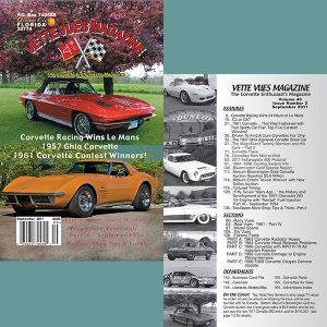 September 2011 Vette Vues Magazine Back Issue for Sale