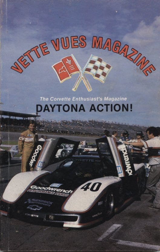 Cover of the April 1986 Vette Vues Magazine Back Issue, Volume 14, Number 9