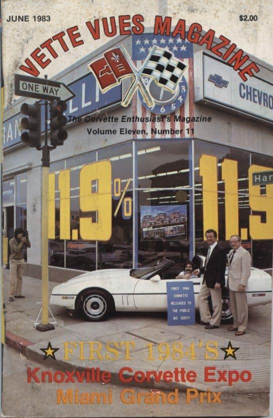 June 1983 Cover of Vette Vues Corvette Magazine