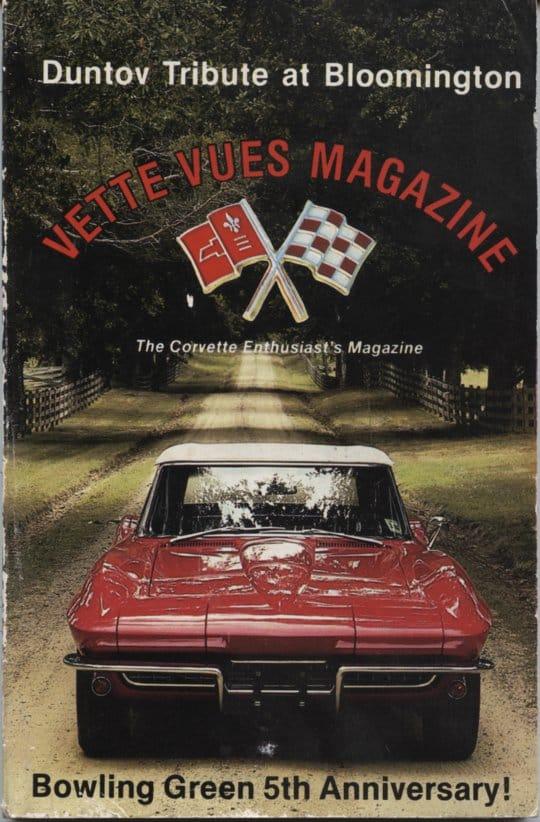 Cover of September 1986 Back Issue Vette Vues Magazine
