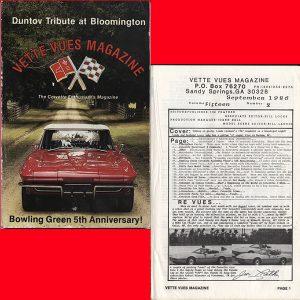 September 1986 Back Issue Vette Vues Magazine