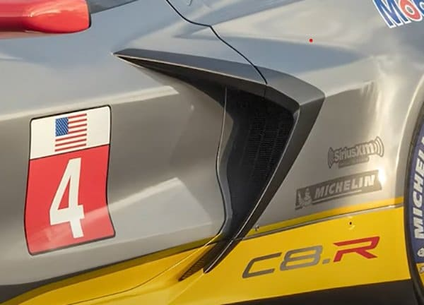 The C8 ZO6 side reminds us of the C8. R Corvette Race Cars Side.