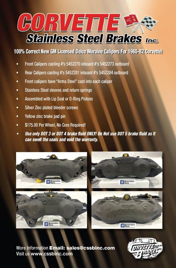 Corvette Stainless Steel Brakes