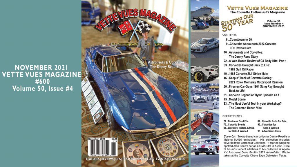 NOVEMBER 2021 VETTE VUES MAGAZINE, #600, Volume 50, Issue #4
